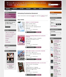 Onlineshop Eventzentrum Geiselwind - Tickets and Merchandise